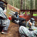 Fast and furious paintball only 15 minutes away at TazballPaintball in nearby Farr Woods